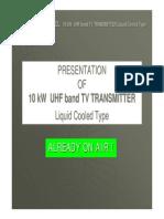 10 Kw Uhf Band Transmitter