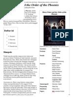 Harry Potter and the Order of the Phoenix - Wikipedia Bahasa Indonesia, Ensiklopedia Bebas
