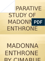 Comparative Study of Madonna Enthrone