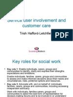 Service User Involvement and customer care