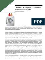 Detergenti Si Produse de Ingrijire a Locuintei Stagnare Sau Crestere Usoara in 2010