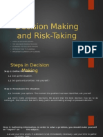 Decision Making and Risk-Taking