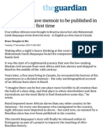 Brazil's Only Slave Memoir to Be Published in Portuguese for First Time _ World News _ the Guardian