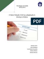 """Fator """"Estado Civil"""" na adaptação à doença crónica"""