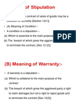 Warrant under sales of goods act