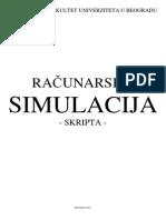 Racunarska simulacija - Skripta
