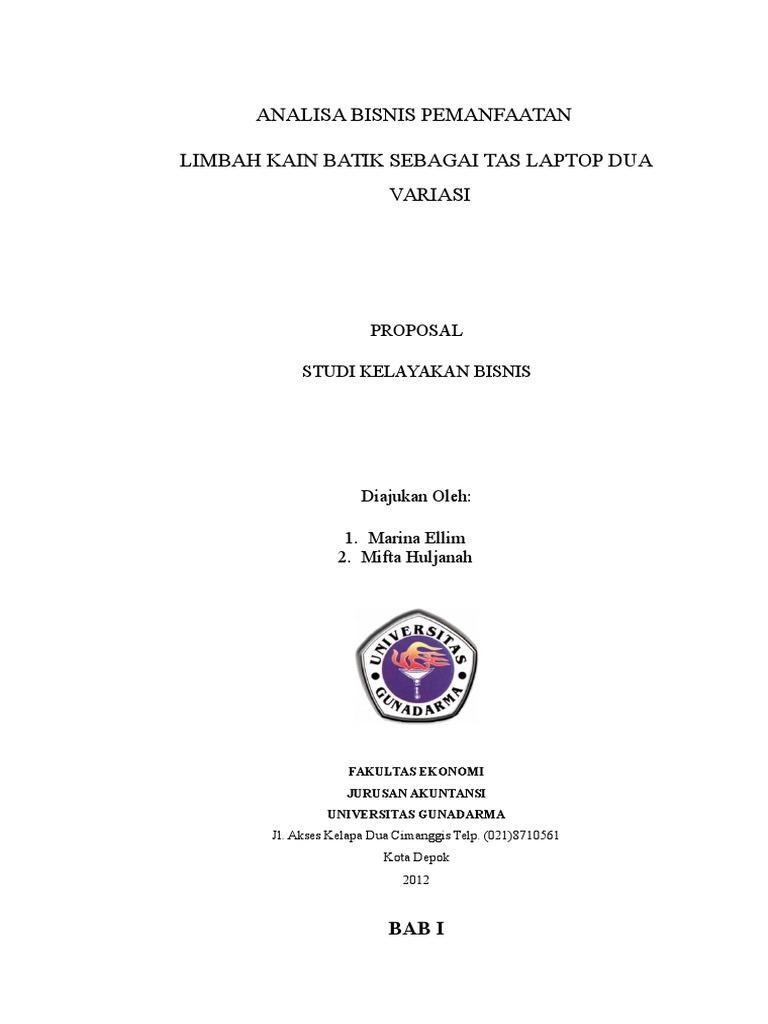 Proposal Analisa Bisnis Pemanfaatan Kain Batik Sisa