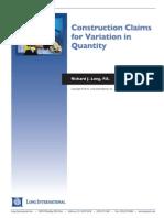 Variation in Quantity