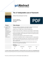 17 Indisputable Laws of Teamwork - GetAbstract