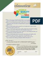 38619 Wqm 2015 Proclamation