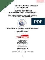 Analisis de La Memoria de Sostenibilidad MAPFRE