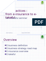 Best Practices From E- Insurance to E- Takaful