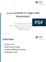 Advancements in Large Scale Assessments Heiko Rolke