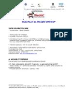 Model PLAN de AFACERI-curs Antet