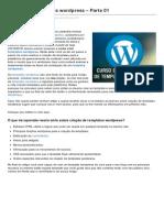 WORDPRESS - Como Criar Templates Wordpress Parte 01