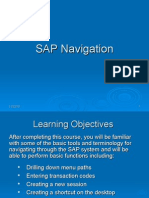 SAP Navigation - Revised Apr 29 2008