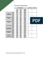 Cuadro. Estructura de La Prueba de Emprendimiento (2)