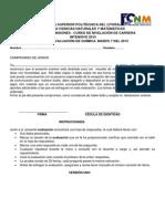 Intensivo 2015 Quimica Primera Evaluacion Version 1