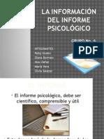 La Informacion Del Informe