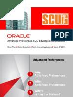 JDE Advanced Preferences March 9th 2011 OTV2