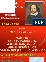 English Project - About William  Shakespeare
