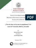 Garcia_Jacobo - Voto de Clase en Los Nuevos Populismos Vene, Ecua y Bol