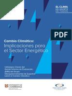 Publicacion Cambio Climatico Implicaciones Para El Sector Energetico IPCCC AR5