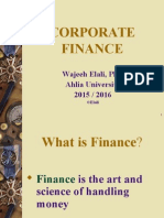 AU FINC 501 LectureNotes Ch1 Introduction to Corporate Finance 2015