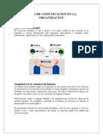 TIPOS DE COMUNICACION EN LA ORGANIZACION.