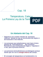 Cap 18 Temperatura, Calor y La Primera Ley de La Termodinámica