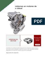 Posibles Problemas en Motores de Combustión Diésel
