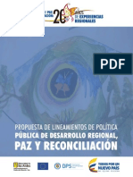 DPS (2015) lineamientos política pública