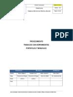 Procedimiento Trabajos Con Herramientas Portatiles y Manuales v.B