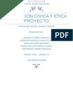 Formacion Civica y Etica Proyecto