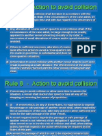 Rule 08 - Action to Avoid Collision