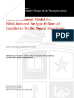 Risk Assessment Model for Wind-Induced Fatigue Failure of Cantilever Traffic Signal Structures