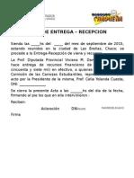 Acta de Entrega-recepcion - Comision