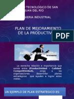 Plan de Mejoramiento de La Productividad en Acción