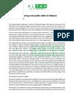 Quantitative Easing and Public Debt of Albania