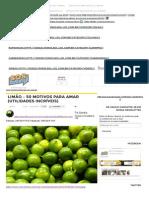 Limão – 50 Motivos Para Amar (Utilidades Incríveis) _ SOS Solteiros