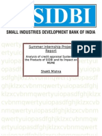 Credit Appraisal In SIDBI