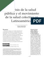 Almeida La Crisis de La Salud Publica