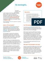 TB Meningitis Fact Sheet June 2015