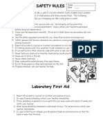 Lab Safety Sheets