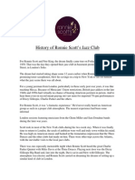 Ronnie Scotts History