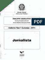 prova senado jornalista 2012