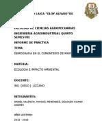 Informe de Ecologia de La Practica Demografica Del Cemneterio de Manta