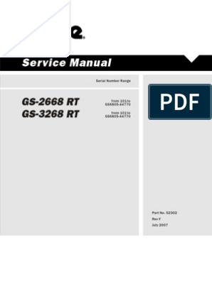 Genie Service Manual | Motor Oil | Ignition SystemScribd