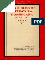 Manuel Rueda - Dos Siglos de Literatura Dominicana (S. XIX - XX) Poesía II