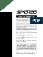manual en Inglés Roland SPD-20